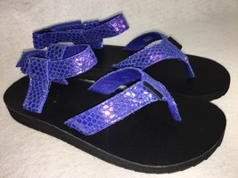TEVA 1010328 ORIGINAL SANDALS Thong Flip Flops IRIDESCENT Blue Womens si... - $39.99