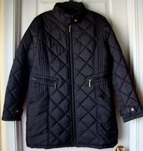 New Weatherproof Women's Mixed Quilted Walker Coat Black Size L - $87.11