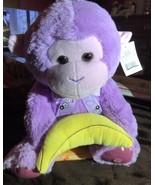 Plush Purple Monkey With Banana Plays Peek A Boo - $23.99
