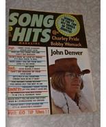 Song Hits Magazine December 1974 John Denver Charley Pride Bobby Womac a... - $14.99