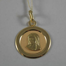 SOLID 18K YELLOW GOLD MEDAL PENDANT,VIRGIN MARY MADONNA, LENGTH 1,06 IN image 3