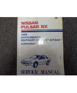 1989 Nissan Pulsar NX Service Repair Shop Manual Supplement FACTORY FEO ... - $23.72