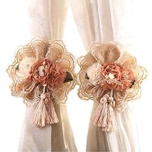 George Jimmy 1Pair Rose Flower Window Curtain Tieback Buckle Clamp Hook Fastener - $21.23