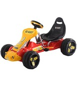 Costzon Go Kart, 4 Wheel Ride on Car, Pedal Powered Ride On Toys for Boy... - $75.03