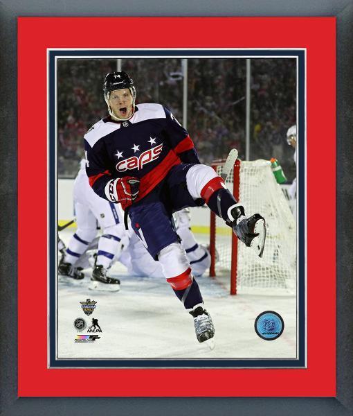 John Carlson Capitals 2018 NHL Stadium Series -11x14 Matted Framed Photo fe5b72ff0