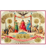 "16x20""Decoration Poster.Interior design art.Cigar label Partagas.Cuba.6323 - $18.00"