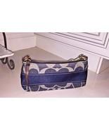 COACH Authentic Women's Blue Denim Signature Handbag Purse W/ Logo and Tags - $60.00