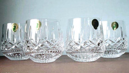 Waterford Lismore Roly Poly Set Of 4 Old Fashioned Tumbler DOF Glasses N... - $168.90