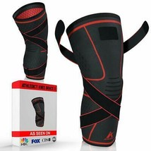5971ae09ac Athledict Knee Brace Compression Sleeve with Strap for Best Support Pain...  - $23.79