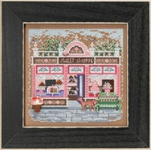 Sweet Shoppe Main Street 2018 Spring Series Buttons and Beads cross stitch kit   - $13.50