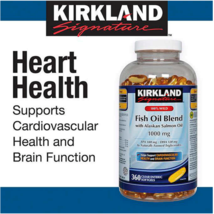 Kirkland Signature™ 100% Wild Fish Oil Blend 360 Softgel -1000 mg - LONG... - $20.54