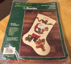 Bucilla Santa & Teddies Counted Cross-Stitch Kit - $13.09
