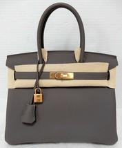 Hermes Birkin 30cm Etain Veau Togo Leather GHW Bag - $18,598.00