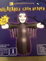 New Halloween 4' LED Airblown Inflatable Grim Reaper Yard Decoration - $19.79