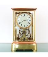 Antique EUREKA CLOCK Mantel 2 Doors!! RED & YELLOW COPPER! Translucent S... - $10,195.00