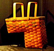 Double Handled Swing Basket Handmade AA19-1577 Vintage image 9