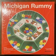 Pressman Michigan Rummy - Vintage Game Tray with Chips NEW SEALED - $24.26