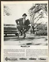 1963 Dial-A-Car Car Rental Print Ad Busby Knows the Value of Cutting Exp... - $10.89