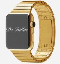 42MM Apple Watch 18-Karat 18K Gold plated Gold Link Band CUSTOM RARE - $699.00
