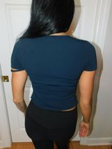 GUCCI BLACK CROPPED TOP SIZE 40 ITALY image 5