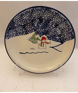 Thomson Pottery Snowman pattern - set/lot of 4 Snowman Salad plates - New - $18.76