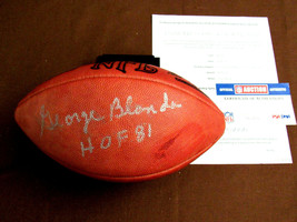 GEORGE BLANDA HOF 81 OAKLAND RAIDERS QB SIGNED AUTO WILSON PRO FOOTBALL ... - $395.99