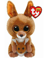 "Kipper the Beanie Boo Kangaroo with baby 6"" TY - $14.00"
