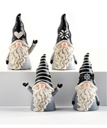 Gnome Figurine Set of 4 pointed hats and long beard  - $35.99