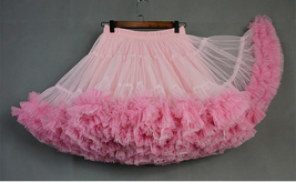 Women Girl Tiered Tutu Skirt Outfit Plus Size Puffy Party Tutu Skirt Blush Pink  image 3