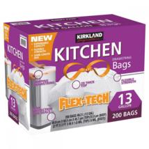 Kirkland Signature Drawstring Kitchen Trash Bags 200 Counts 13 Gallon - $40.62