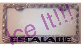 For Cadillac ESCALADE Stainless Steel license plate frame madeSwarovski Crystals - $79.19