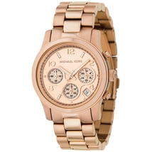 Michael Kors MK5128 Rose Gold Plated Ladies Chronograph Watch - $127.34
