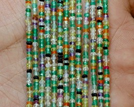 "Z-0333 Mix Quartz Gemstone Natural Rondelle Faceted Loose Beads 2mm 13"" ... - $12.86"