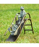SPI Home Sliding Frogs Garden Sculpture Frog Playground Slide Pool Yard ... - $216.00