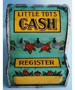 Vintage LITTLE TOTS Toy Cash Register by World Metal Stamping Co., c.1930's - $26.60