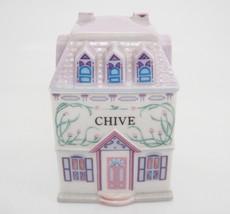 Lenox Spice Village Chive Jar Figural Porcelain House 1989 Replacement E... - $14.84