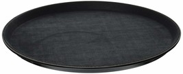 Winco Easy Hold Round Tray, 14-Inch, Black - $33.96