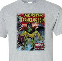 The Monster of Frankenstein T Shirt retro 70s marvel comics Legion of Monsters image 2