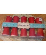 Red Solo Cup Camper Novelty Party String Lights Set of 10 Unopened NIB - $18.70