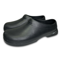 Skechers Mens Oswald Balder Slip Resistant Black Work Clogs Shoes 76778 ... - $29.69