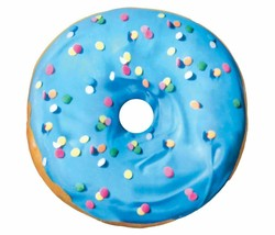 2 Scoops Scented Micro Bead Pillow Plush Blue Pink Classic Sprinkle Donut NWT image 2