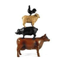 Farm Animal Stack Statue – Farm Animals Décor - $32.38