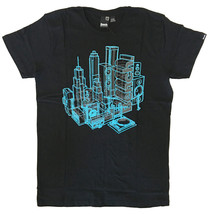 Bench Mens Black Blue Xray Speakers Music Turntable Boombox City T-Shirt NWT