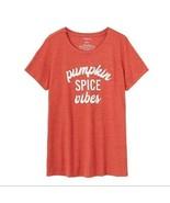 Torrid Pumpkin Spice Vibes Shirt TShirt Fall Shirt Plus Size 2x Graphic New - £24.17 GBP