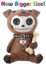 SUMMIT COLLECTION Furrybones Rocky Signature Skeleton in Puppy Dog Costume Holdi - $17.79