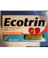 Ecotrin Safety Coated Aspirin 81 mg Low Strength Tablets 365 ea Exp. 11/... - $12.86