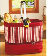 The Lakeside Collection Tote with Casserole Carrier- Stripes - $22.12