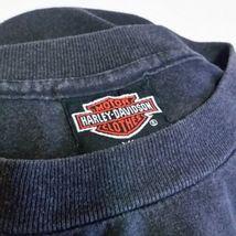VTG 1988 Harley Davidson 3d Emblem T Shirt Eagle Soars Alone 50/50 Biker 80s XL image 9