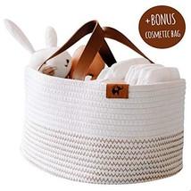 L'efante Top Quality Rope Diaper Caddy Organizer + Bonus Cosmetic Bag  c... - $45.34
