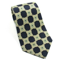 POLO by RALPH LAUREN Mens Silk Printed Tie Abstract Pattern Navy Blue - $14.00
